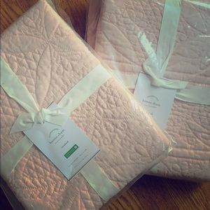 NEW! Pottery Barn Quilted Hanna Pillow Shams (2)